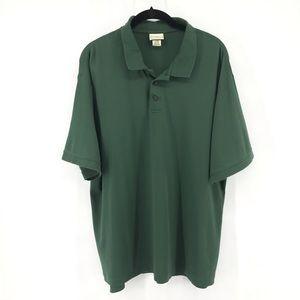 🌿 Green L.L. Bean Pima Cotton Polo Shirt Large